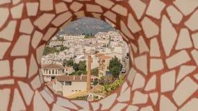 Mosaico en punto de vista imagenes de archivo