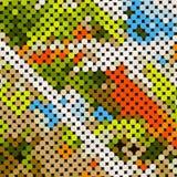 mosaico escénico ilustración del vector