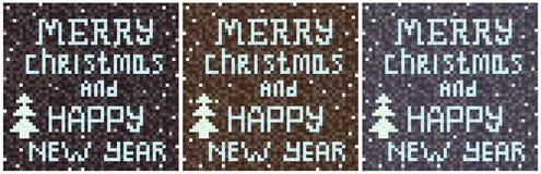 Mosaico escrito fondo gris de la Navidad Fotos de archivo