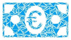 Mosaico euro del billete de banco de triángulos ilustración del vector