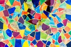 Mosaico feito de partes coloridas das telhas Fotografia de Stock Royalty Free