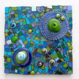 Mosaico feito a mão Foto de Stock
