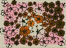 mosaico floral del fondo Fotografía de archivo
