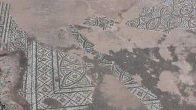 Mosaico gasto do assoalho, a coluna de St Paul, Paphos Imagem de Stock