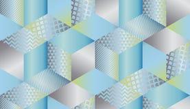 Mosaico geométrico luxuoso das formas nas cores pastel ilustração stock