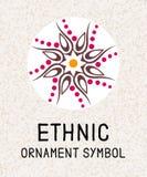Mosaico geometrico della mandala Modelli di logo per la stazione termale ed il centro di yoga Medaglione antistress indiano Rilas illustrazione vettoriale
