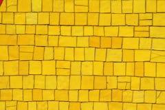 Mosaico giallo Fotografia Stock Libera da Diritti