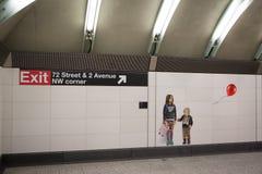 Mosaico hecho de tejas en el 2do subterráneo de la avenida Foto de archivo libre de regalías
