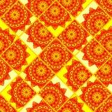 Mosaico inconsútil del modelo de la mandala Fotos de archivo libres de regalías