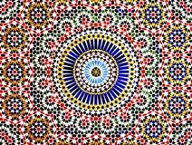 Mosaico islámico, Marruecos Fotografía de archivo libre de regalías