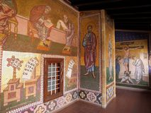 Mosaico a Kykkos Monastry Immagine Stock Libera da Diritti