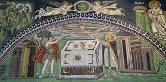 Mosaico la basílica de Ravena Fotos de archivo libres de regalías