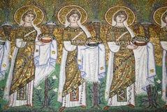 Mosaico la nueva basílica del santo Apollinaris Imágenes de archivo libres de regalías