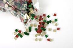 Mosaico lightplastic do fundo de Bokeh no fundo branco Imagens de Stock Royalty Free