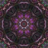 Mosaico mágico de la energía del ornamento de la tarjeta del caleidoscopio de la elegancia abstracta del modelo libre illustration