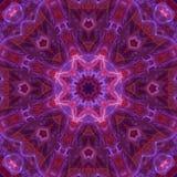 Mosaico mágico de la energía del ornamento de la tarjeta del caleidoscopio de la elegancia colorida abstracta del modelo stock de ilustración
