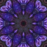 Mosaico mágico de la energía del ornamento de la tarjeta de la elegancia colorida de la decoración del caleidoscopio del extracto stock de ilustración