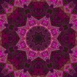 Mosaico mágico de la energía del ornamento de la tarjeta de la elegancia futurista colorida de la decoración del caleidoscopio de libre illustration