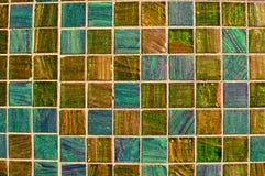 Mosaico multi azul y verde del azulejo del color Imágenes de archivo libres de regalías
