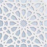 Mosaico musulmano di vettore, motivo persiano Elemento della decorazione della moschea Reticolo geometrico islamico Ornamento bia illustrazione vettoriale