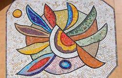 Mosaico na parede fotografia de stock royalty free