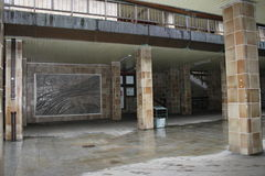 Mosaico na passagem subterrânea foto de stock royalty free
