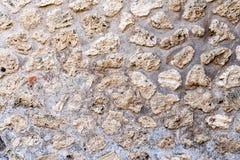 Mosaico nas ruínas da cidade romana antiga Pompeii, Itália Teste padrão caótico geométrico do sumário fotografia de stock royalty free