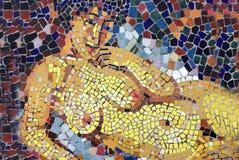 Mosaico nudo del torso Fotografie Stock