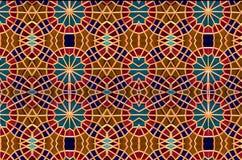 Mosaico oriental Testes padrões e ornamento Arte do mosaico Foto de Stock