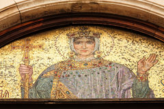 Mosaico. Orthodox Icon of the Virgin Mary royalty free stock images