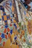 Mosaico in parco Guell Fotografia Stock Libera da Diritti