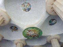 Mosaico, parque Guell, Barcelona, Spain Foto de Stock Royalty Free