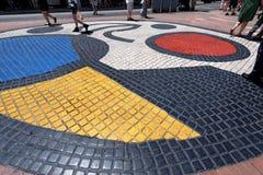 Mosaico pela Espanha de Joan Miro - de Rambla - de Barcelona foto de stock