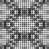 Mosaico polivinílico bajo caleidoscópico del vector del estilo del círculo Fotos de archivo libres de regalías