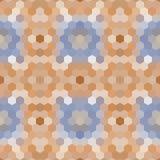 Mosaico polivinílico bajo caleidoscópico del vector del estilo del hexágono Foto de archivo libre de regalías
