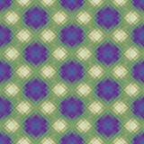 Mosaico polivinílico bajo caleidoscópico del vector del estilo del rombo Fotografía de archivo