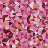 Mosaico polivinílico bajo caleidoscópico del vector del estilo del triángulo Foto de archivo libre de regalías