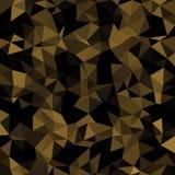 Mosaico polivinílico bajo caleidoscópico del vector del estilo del triángulo Imágenes de archivo libres de regalías