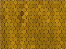 Mosaico polivinílico bajo del vector del estilo del hexágono de la pendiente Foto de archivo libre de regalías