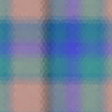Mosaico polivinílico bajo del vector del estilo del hexágono del tartán Fotografía de archivo