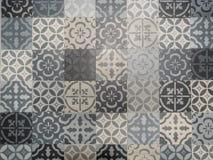 Mosaico portoghese o spagnolo geometrico del modello di vettore delle mattonelle di Lisbona Azulejo, retro vecchio delle mattonel immagine stock