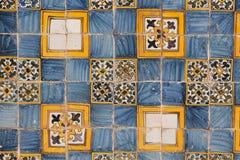 Mosaico portugués Imagen de archivo libre de regalías