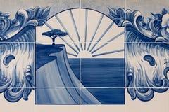 Mosaico portugués en Albufeira Fotos de archivo libres de regalías