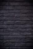 Mosaico preto do tijolo do retângulo no formulário do vertical do retângulo fotografia de stock royalty free