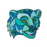 Mosaico principal del oso grizzly imágenes de archivo libres de regalías