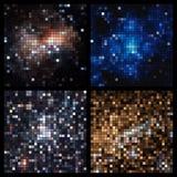 Mosaico quadrado abstrato do pixel Imagens de Stock Royalty Free