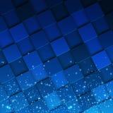 Mosaico quadrado 3d Textura colorida moderna composta do sparcle mágico do witn das telhas a ele Ilustração do vetor Imagens de Stock