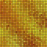 Mosaico quadrado dourado Fotografia de Stock Royalty Free