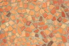Mosaico rústico anaranjado y amarillo rojo Foto de archivo libre de regalías