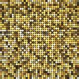 Mosaico retro abstrato dourado do pixel do vintage do vetor ilustração stock